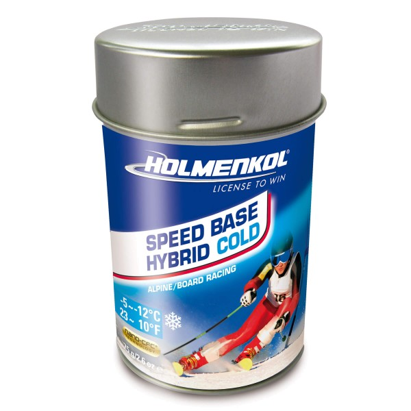 Holmenkol SPEED BASE HYBRID COLD 75gr Top-Finish Rennwachs Auslaufmodell