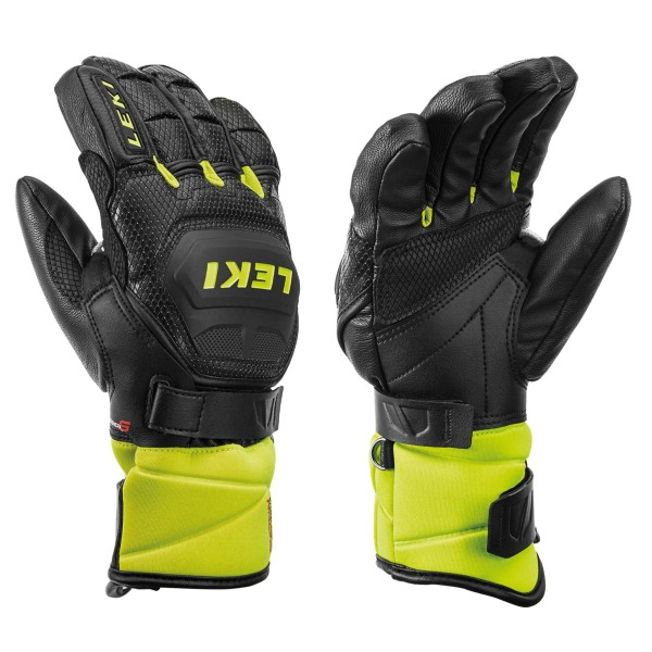 Leki WORLDCUP RACE FLEX S JUNIOR Rennhandschuh Junior schwarz-lemon
