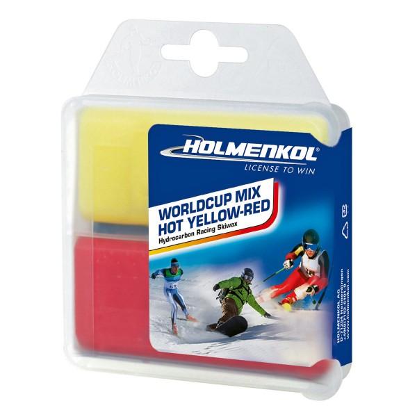 Holmenkol WORLDCUP MIX HOT GELB-ROT Skiwachs-Set 70g