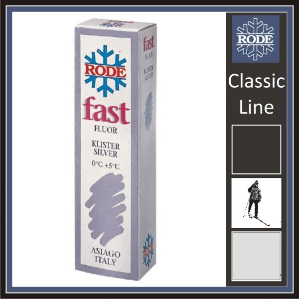 Rode Langlauf Steigwachs FK50 FLUOR KLISTER FAST SILVER 60gr +5 bis 0°