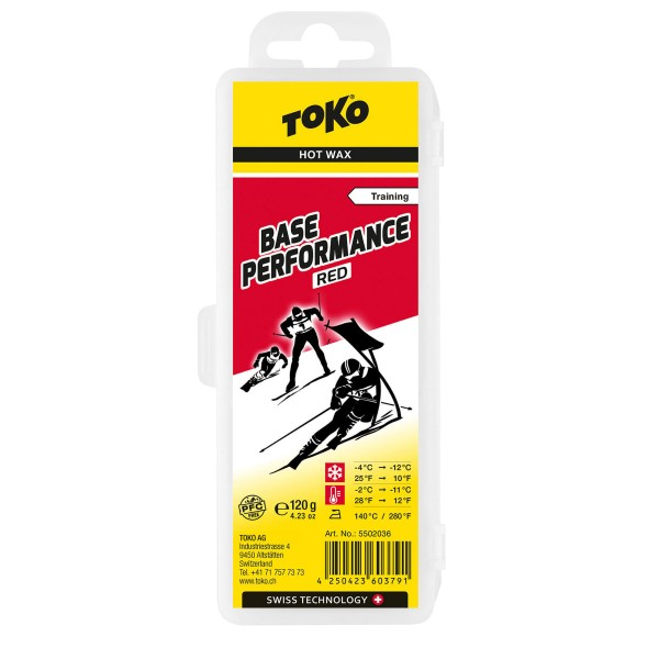 Toko BASE PERFORMANCE RED 120gr Skiwachs