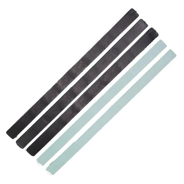 Holmenkol FX STRIPS schwarz/transparent 5 Stück Belagsreparaturmaterial