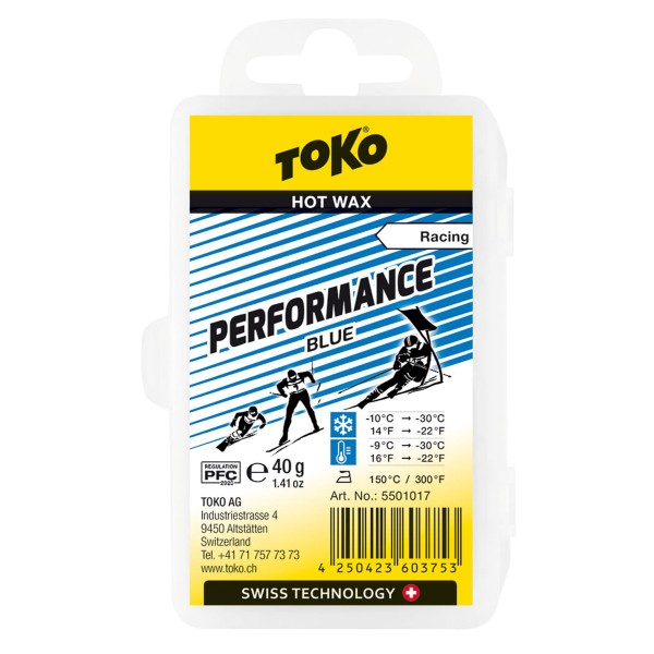 Toko PERFORMANCE BLUE 40gr Skiwachs